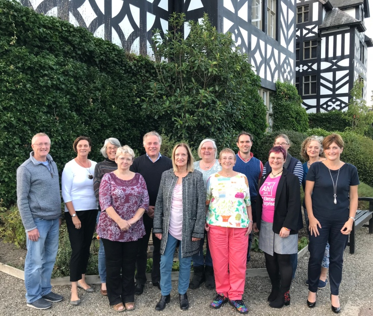 Monty Lit Fest Committee at Gregynog Hall