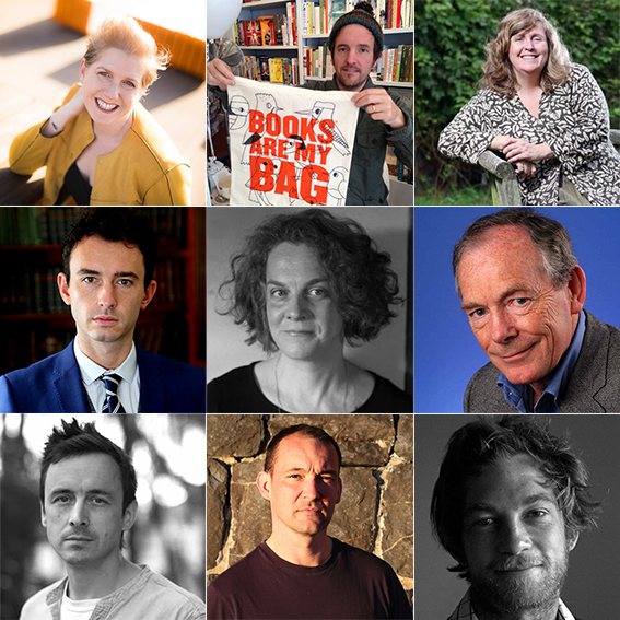 Photos of some of the confirmed speakers for Monty Lit Fest. See post text for names.