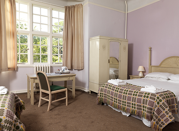 Bedroom at Gregynog Hall