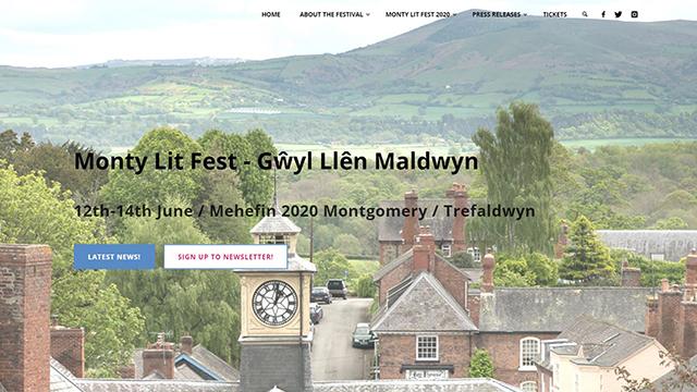 Small sized screenshot of new Monty Lit Fest website